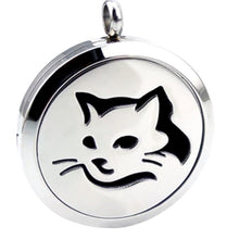 Locket Cat Face Icon PLUS Chain - Stainless Steel