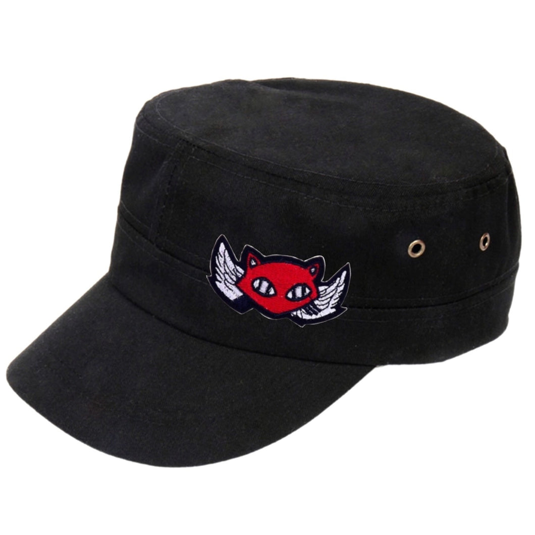 Cap Angel Devil Cat - Black