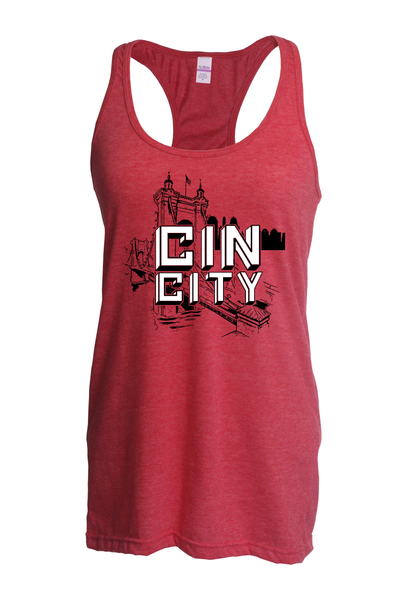 Roebling City Slim Fit Racer Back Tank
