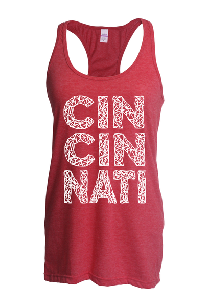 Cincy Web Slim Fit Racer Back Tank