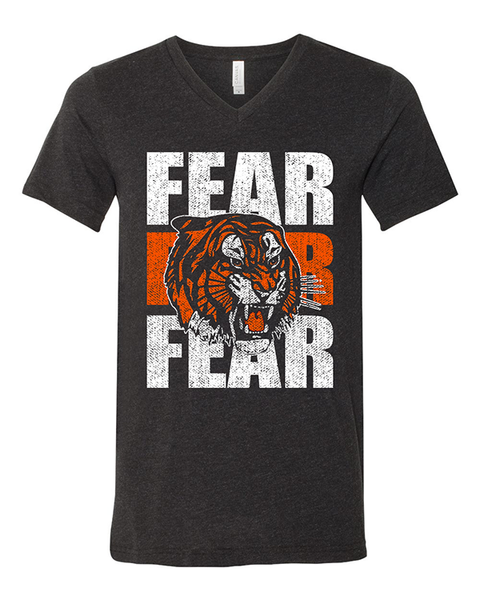 Cin City Fear the Tiger Unisex V-Neck