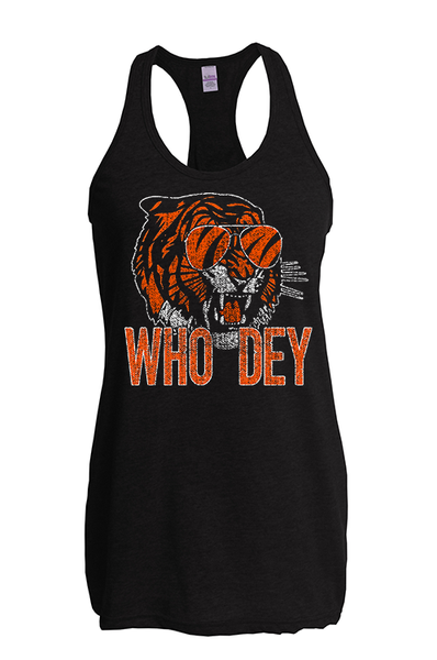 Cin City Throwin' Shade Who Dey Racerback Tank