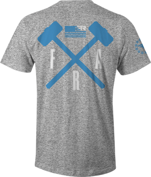 Crossed Hammers - HEATHER GRAY