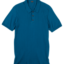 Ribbed front Polo shirt with 3 buttons - GIZA45 By 991 Japan - KAZUNA
