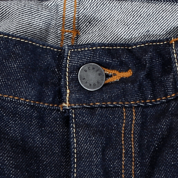Button Fly Japanese Selvedge Denim Jeans by Denim Works - KAZUNA