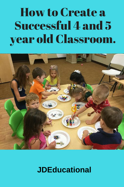 Creating a Successful Classroom for 4 and 5 year olds