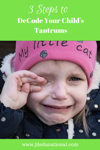 3 Steps to DeCode Your Child's Tantrums