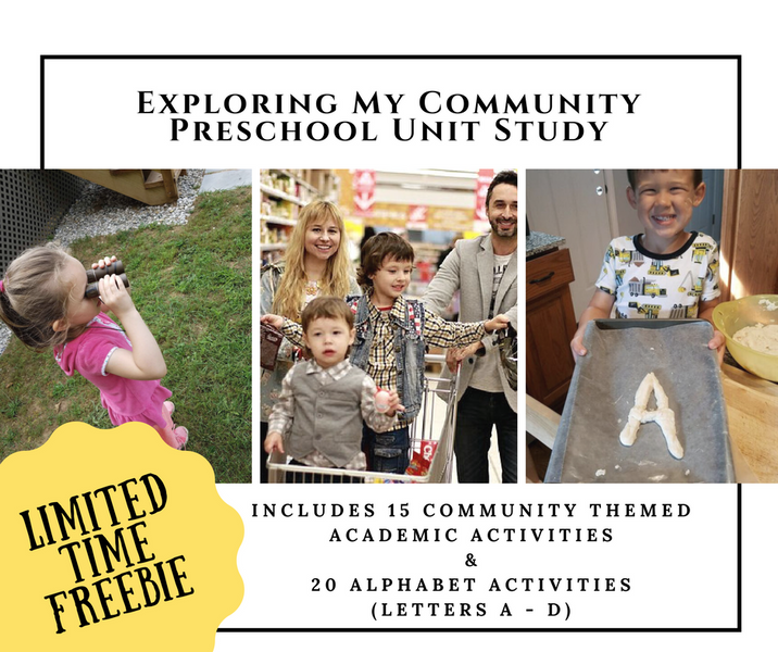 Pre-K Unit: Exploring Letters in my Community Freebie