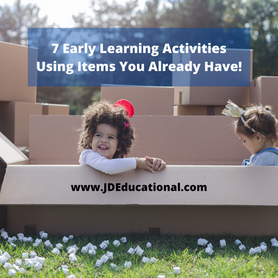 7 Early Learning Activities Using Items You Already Have!