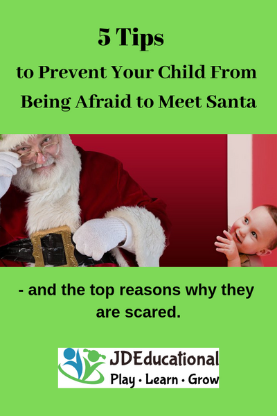 5 Tips to Prevent Your Child From Being Afraid to Meet Santa - and the top reasons why they are scared