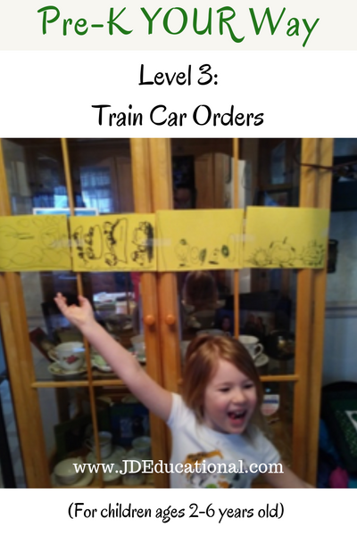 Pre-K YOUR Way: Train Car Ordinal Numbers