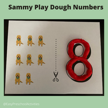 Sammy Play Dough Numbers and Counting
