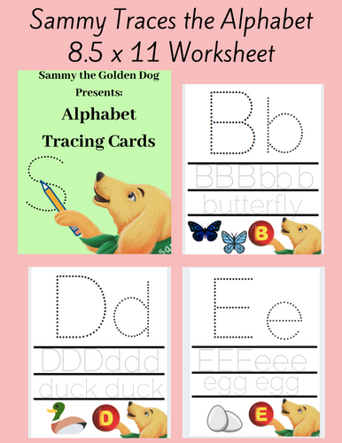 Sammy the Golden Dog: Alphabet Tracing Cards