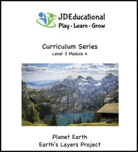 Level 3: Module 4: Planet Earth Themed Academic Activities; Project - Discovering the Earth's Layers