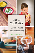 Level 1: Unit 12: Mealtime Activities- At Home and Away Academic Activities & Parent Guide: Surviving Restaurants with Kids