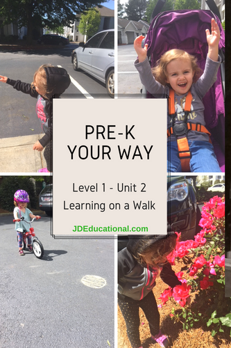 Level 1: Unit 2:  Going On A Walk Activities