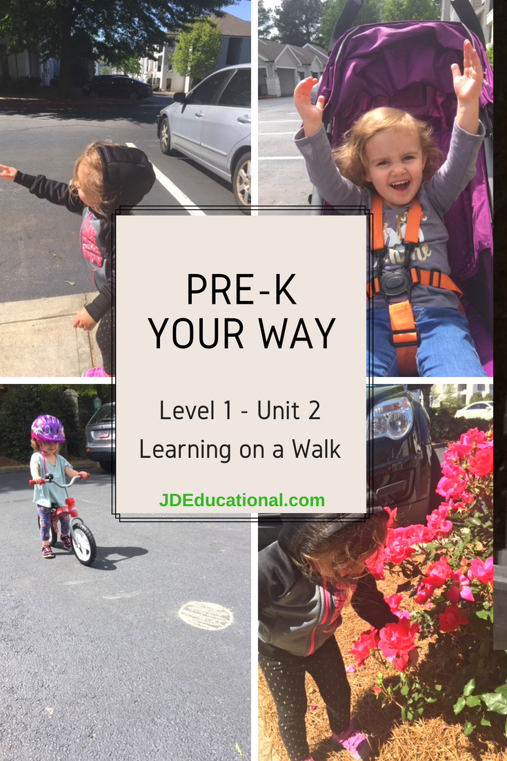 Level 1: Unit 2:  Learning on a Walk Academic Activities & Parent Guide: Teaching Children Safety Rules
