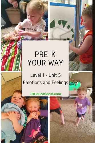 Level 1: Unit 5: My Emotions & Feelings Activities