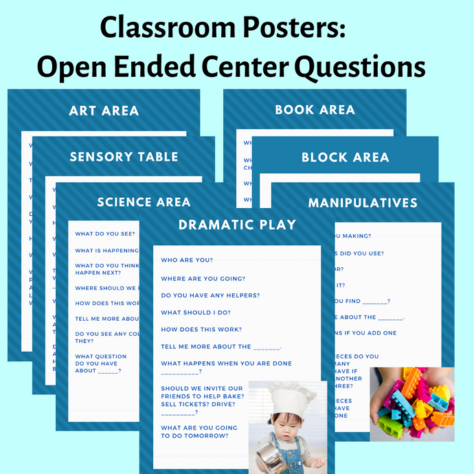 Classroom Posters: Open Ended Center Questions