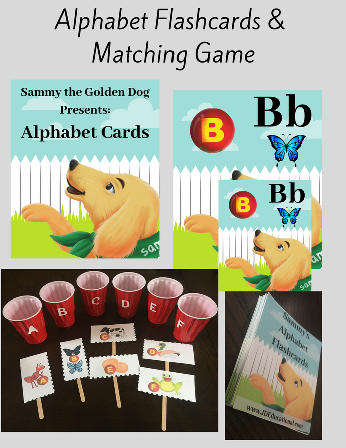 Sammy the Golden Dog: Alphabet Flashcards