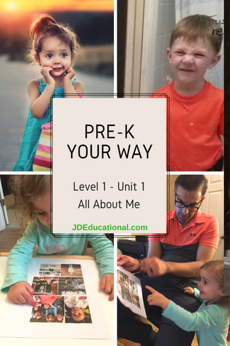Level 1: Unit 1:  All About Me Activities