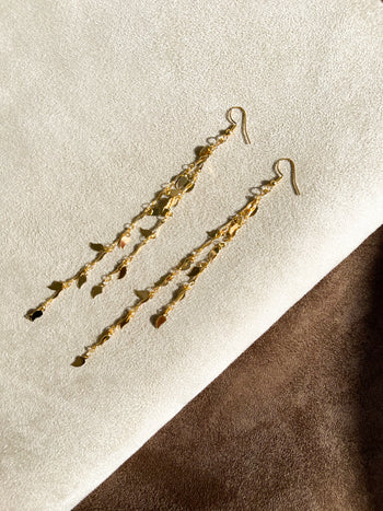 18K Gold Plated Leaf Earrings