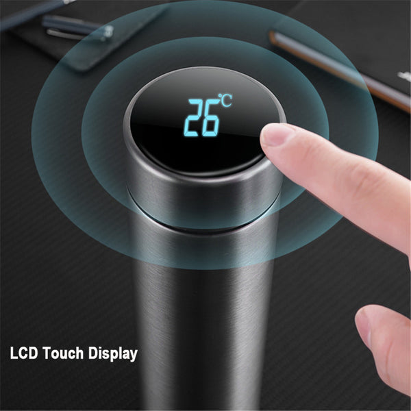 Intelligent Thermos Cup Temperature Display Cup LED Touch Digital Vacuum Stainless Steel Gift for Home Office