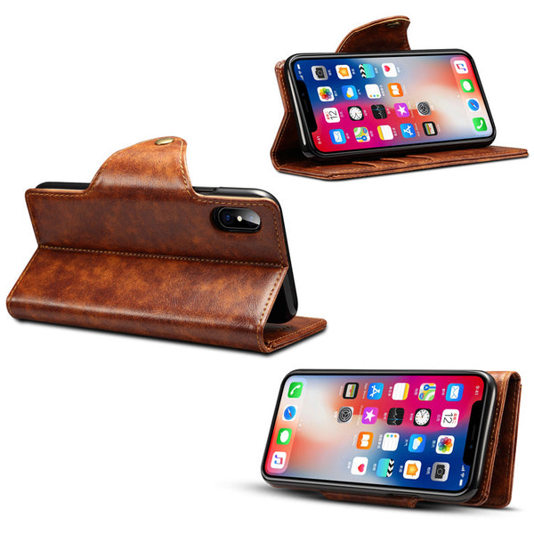 Multi Function iPhone X/8+ Flip Case Stand/Wallet