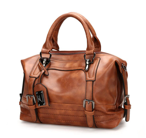Women's European Leather Shoulder Bag: Travel, Business & More