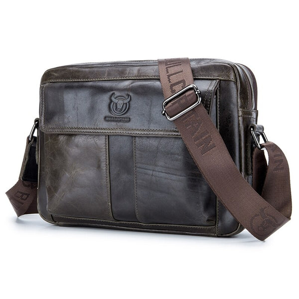 Men's Genuine Cowhide Leather Business/Travel Shoulder Bag - StoreFour