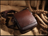 Men's Fine Leather Messenger Bag: Business, Travel, School and Moor! - StoreFour