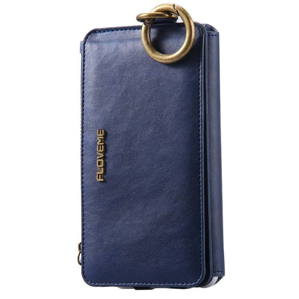 Vintage Luxury Pure Leather Wallet/Phone Case for Several iPhone Models - StoreFour
