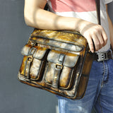 Vintage, Luxury, Real Cow Leather Men's Messenger Businees Briefcase - StoreFour