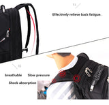 Waterproof HQ Men's Large Capacity Laptop Backpack with External USB & Audio jack