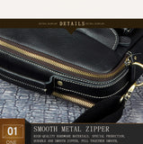 Vintage, Luxury, Real Cow Leather Men's Messenger Businees Briefcase