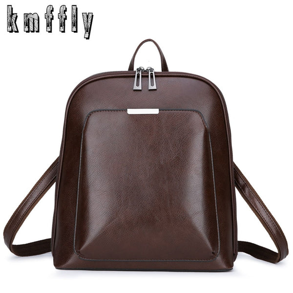 Vintage, Soft Girls' Luxury Leather Backpack for School, Travel and Day-Trips