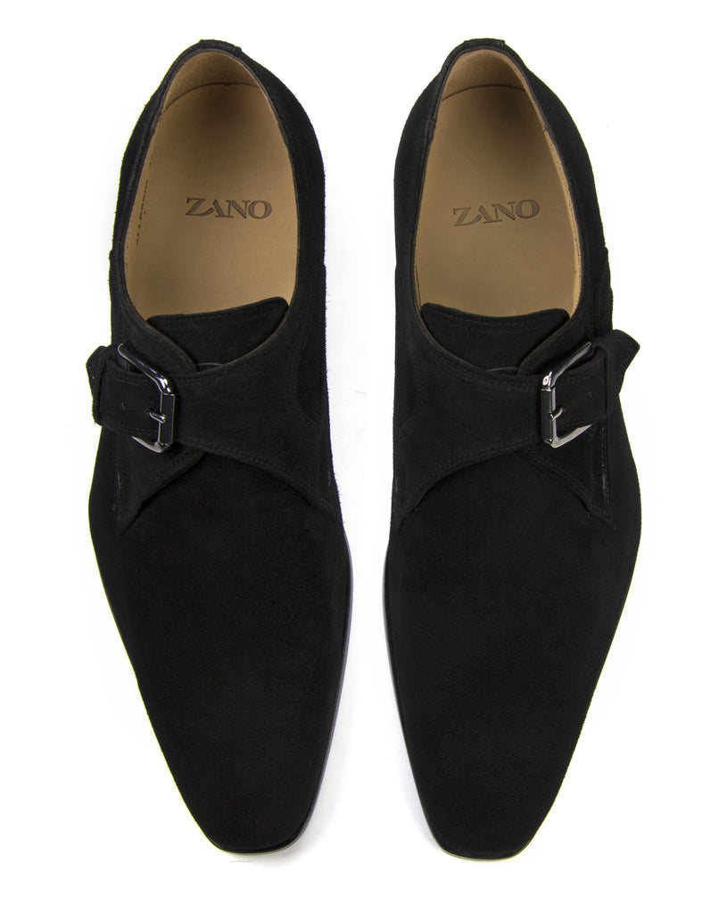 Black Suede Single Monkstrap