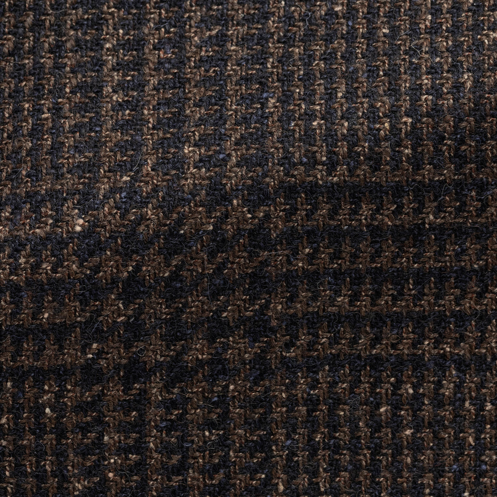 BROWN-NAVY WOOL-ALPACA-SILK