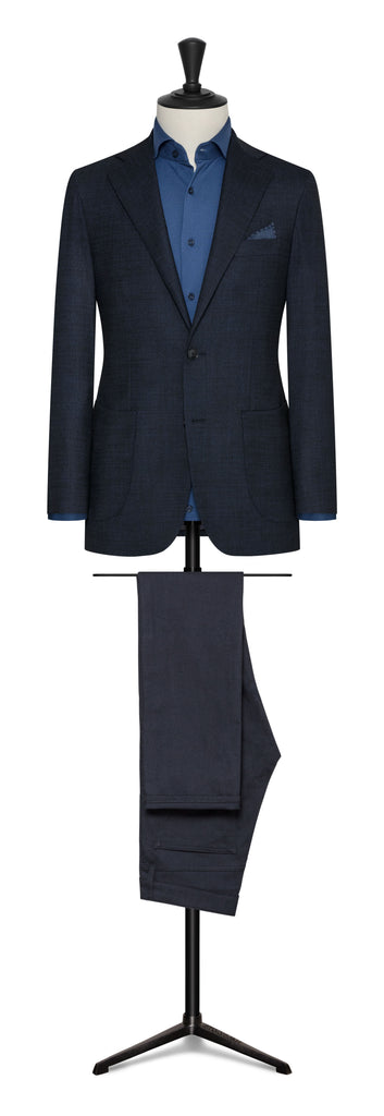 BLUE NAVY STRETCH WOOL