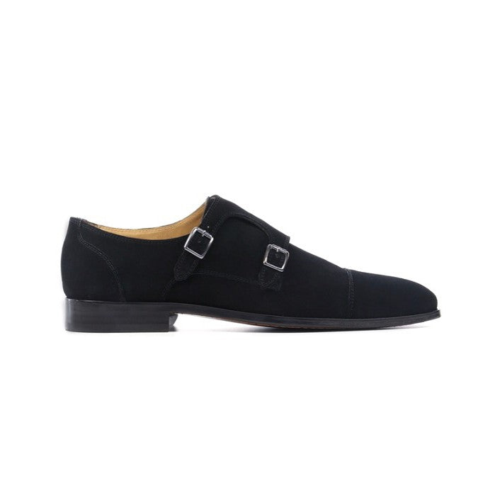 Black Suede Double Monkstrap