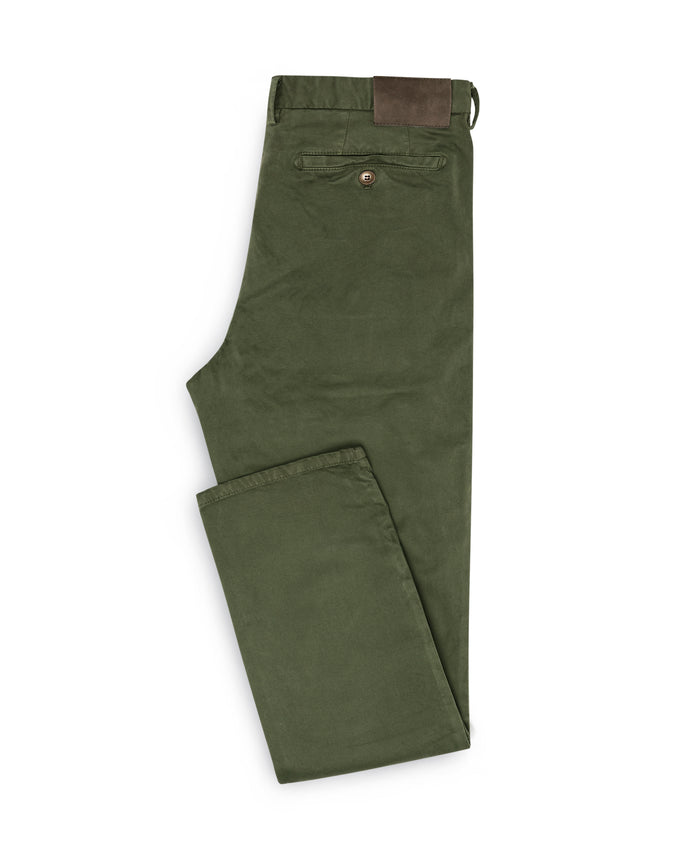 DUSTY OLIVE STRETCH CHINO