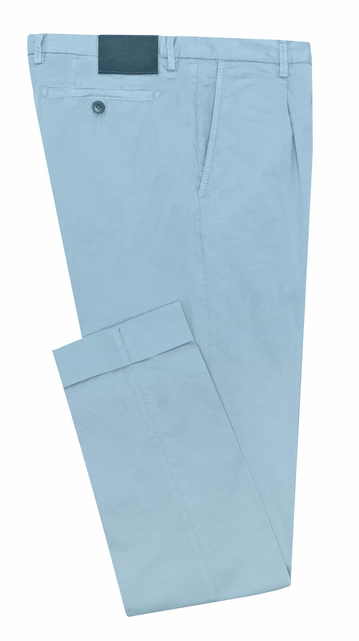 LIGHT BLUE STRETCH CHINO