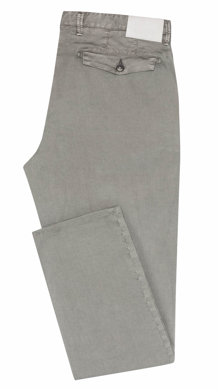 MEDIUM GREY STRETCH CHINO