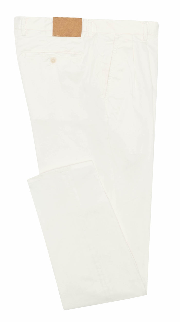 OFF-WHITE STRETCH CHINO