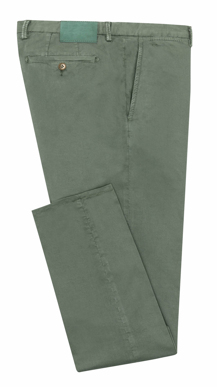 FOREST GREEN STRETCH CHINO