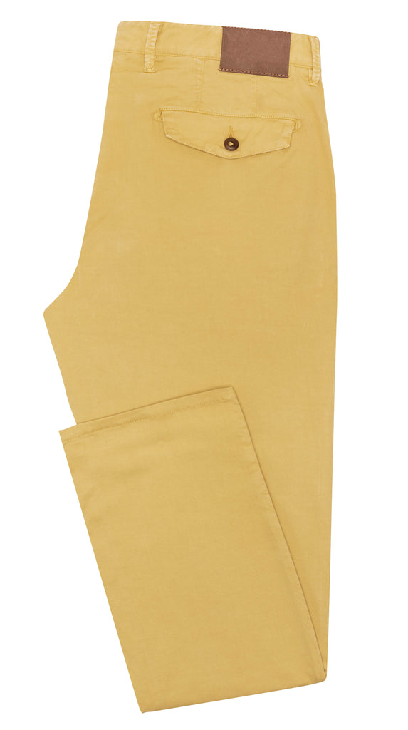 MUSTARD YELLOW STRETCH CHINO