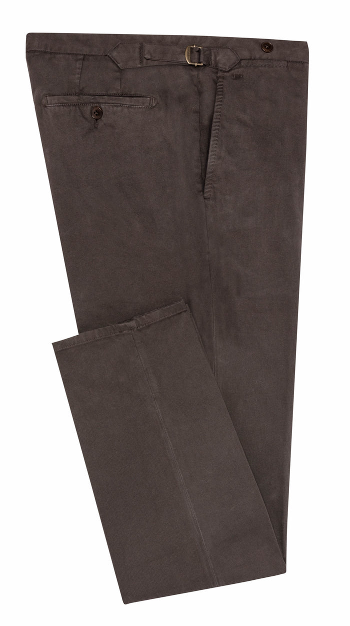 DARK BROWN STRETCH CHINO