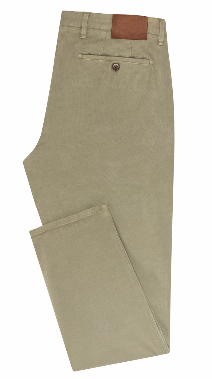 LIGHT OLIVE STRETCH CHINO