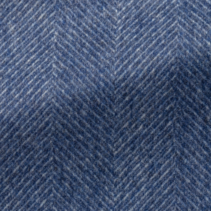 MIXED BLUE WOOL-CASHMERE HERRINGBONE