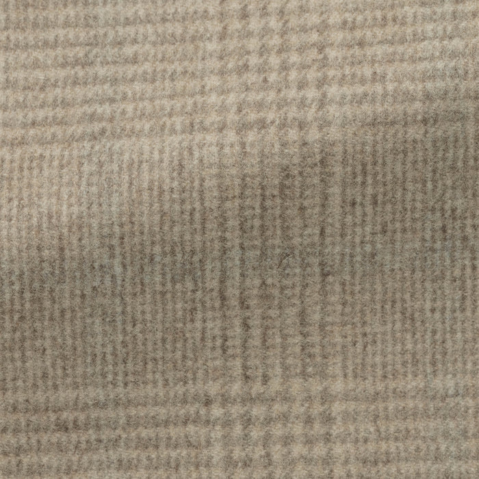 LIGHT BROWN WOOL-CASHMERE GLENCHECK